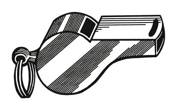 illustrazioni stock, clip art, cartoni animati e icone di tendenza di whistle - fischietto