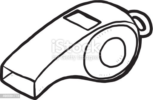 Whistle Stock Vector Art & More Images of Art 495584773 ...