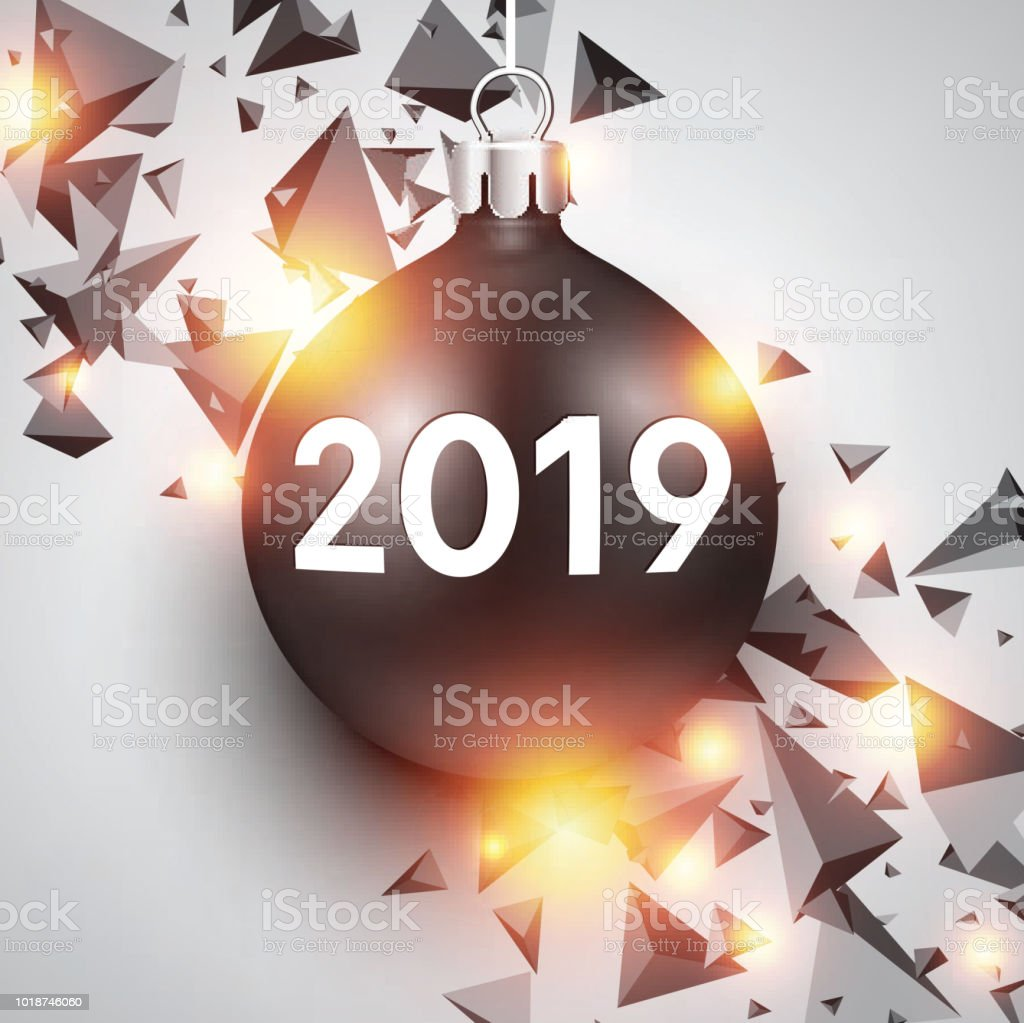 white 2019 new year background with christmas ball royalty free white 2019 new year