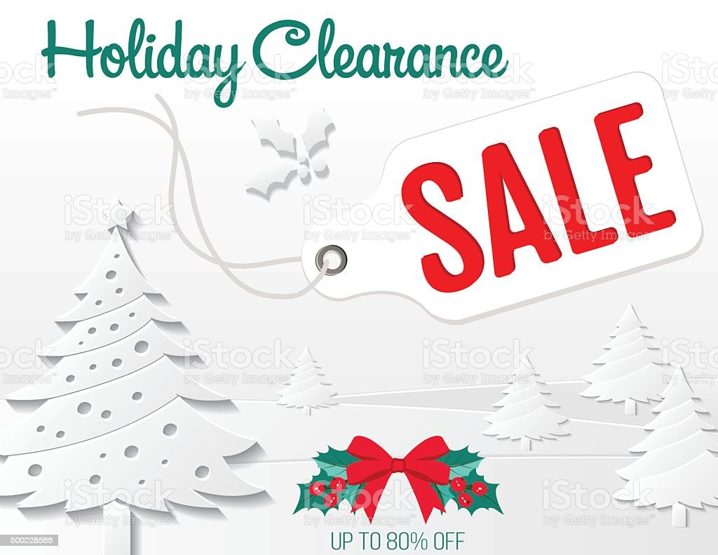 White 3d Christmas Sale Ad Template Stock Illustration Download Image Now Istock