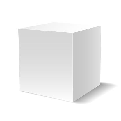 화이트 3 차원 큐브 0명에 대한 스톡 벡터 아트 및 기타 이미지