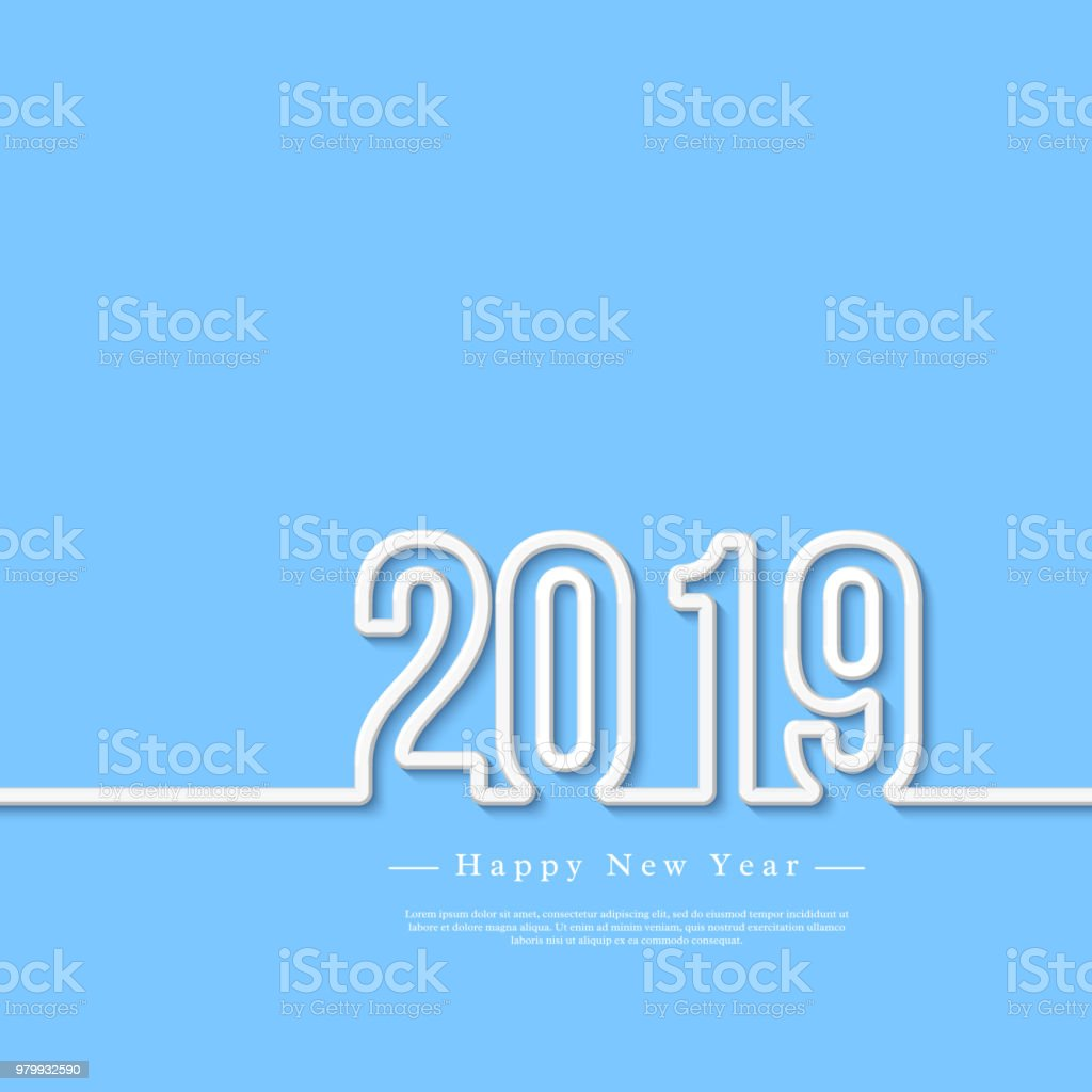 2019 white 3d numbers with shadow on blue background happy new year 2019 white 3d numbers with shadow on blue background happy new year greeting text m4hsunfo