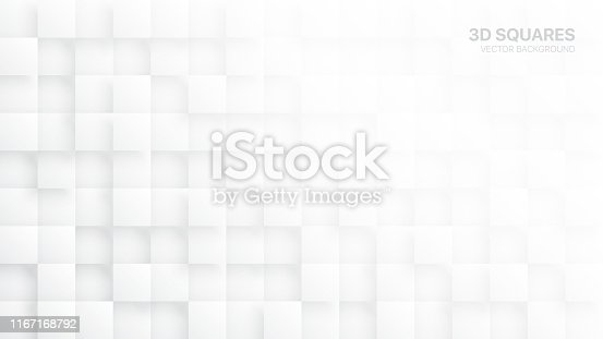 869478294 istock photo White 3D Vector Blocks Abstract Background 1167168792