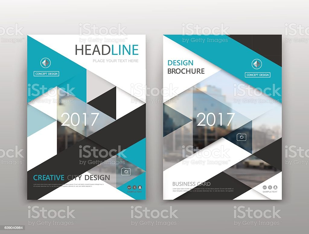 white a4 brochure cover design modern vector front page stock vector