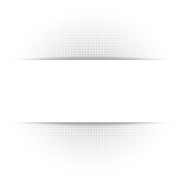 White abstract background, gray geometric halftone texture, cut paper shadow. Mock-up of banner, Vector illustration vector art illustration