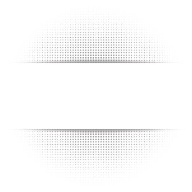 White abstract background, gray geometric halftone texture, paper shadow vector art illustration