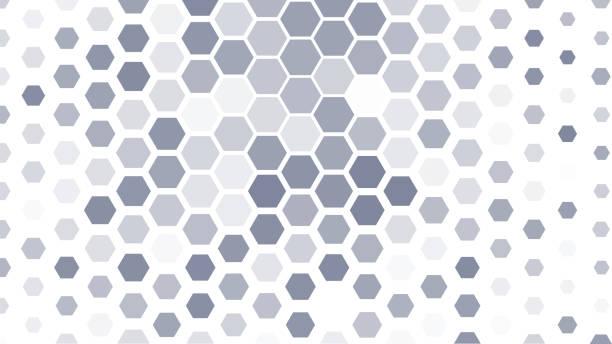 white abstract background - шестиугольник stock illustrations