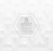 White abstract background vector with triangles. Vector illustration eps-10.