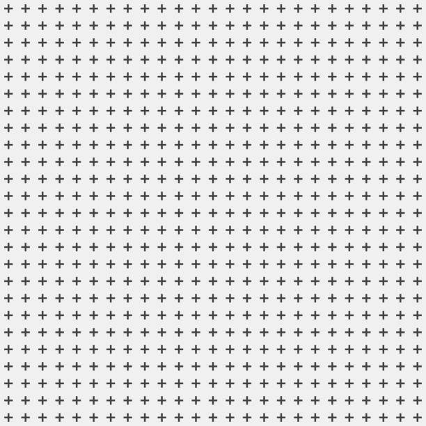 White Abstract Background with Crosses White abstract background with seamless random dark crosses, dots, grunge texture for design concepts, posters, banners, web, presentations and prints. Vector illustration. crisscross stock illustrations