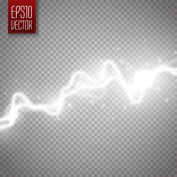 ilustrações de stock, clip art, desenhos animados e ícones de white abstract energy shock effect. electric discharge isolated. vector lightning - greve