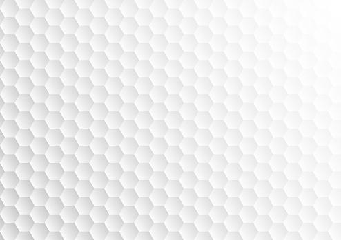 white abstract hexagon golf texture
