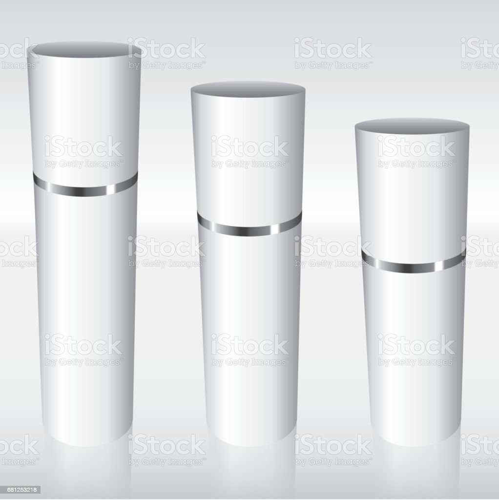 White Airless Bottles with a silver ring royalty-free white airless bottles with a silver ring stock vector art & more images of aluminum