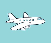 White airplane.