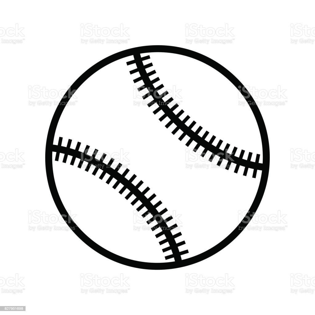 white and black baseball ball vector icon isolated stock vector art rh istockphoto com baseball glove and ball vector baseball ball vector free