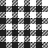 White and Black Buffalo Check Plaid Seamless Pattern