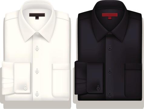 White and Black ButtonDownShirt