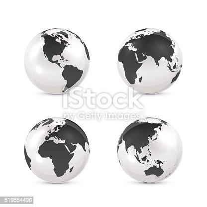 ilustra o de preto e branco globo terrestre e mais banco de imagens de abstrato 519554496 istock. Black Bedroom Furniture Sets. Home Design Ideas