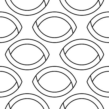 White And Black Geometric Ornament Seamless Pattern — стоковая векторная графика и другие изображения на тему Абстрактный