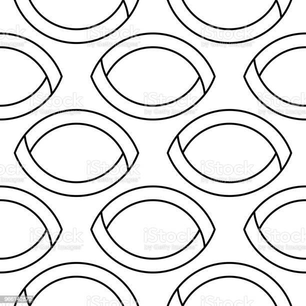 Ornamento Geometrico Bianco E Nero Modello Senza Soluzione Di Continuità - Immagini vettoriali stock e altre immagini di Astratto