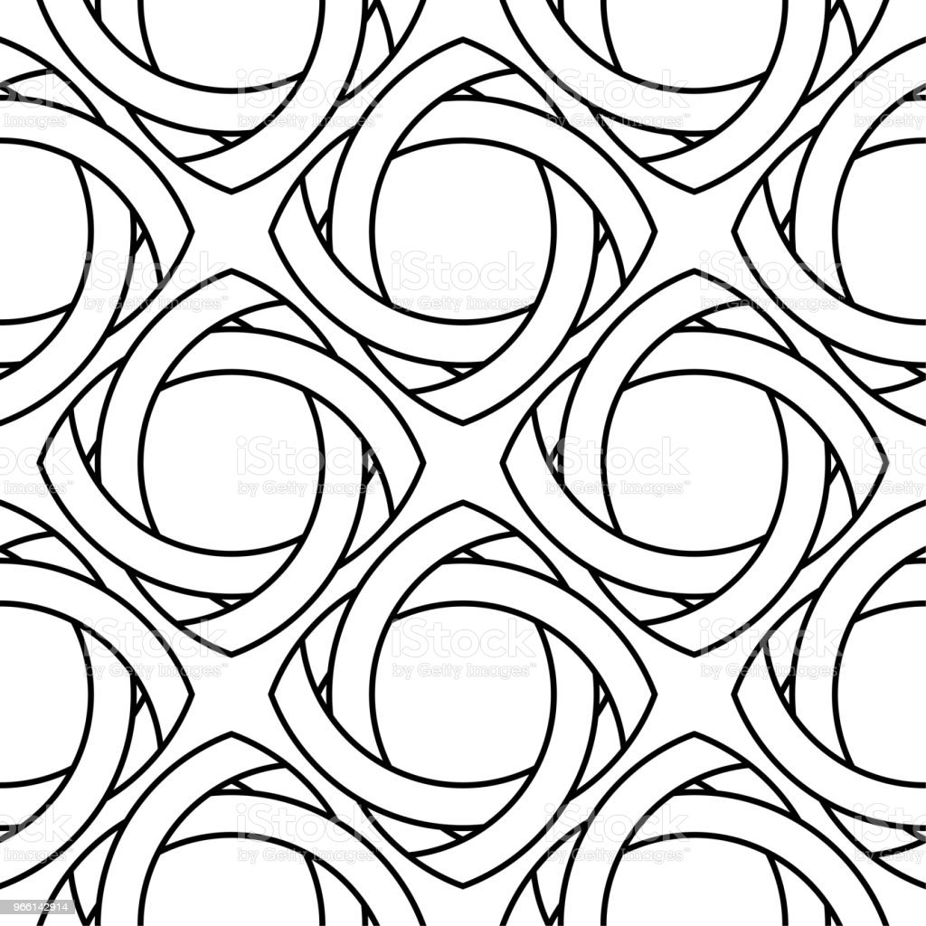 White and black geometric ornament. Seamless pattern - Royalty-free Abstrato arte vetorial