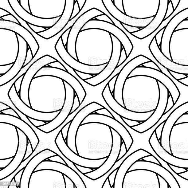 Vita Och Svarta Geometriska Prydnad Seamless Mönster-vektorgrafik och fler bilder på Abstrakt
