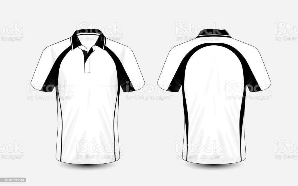 White And Black Layout Esport Tshirt Design Template Stock Vector