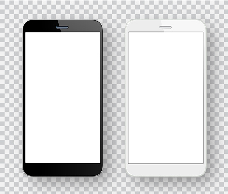 White and black mobile phones