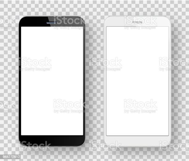 흰색과 검은색 휴대 전화 검은색에 대한 스톡 벡터 아트 및 기타 이미지