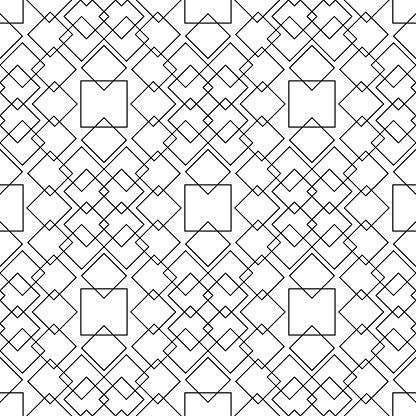 Weiß Und Schwarz Monochrome Geometrische Ornament Nahtlose Muster Stock Vektor Art und mehr Bilder von Abstrakt