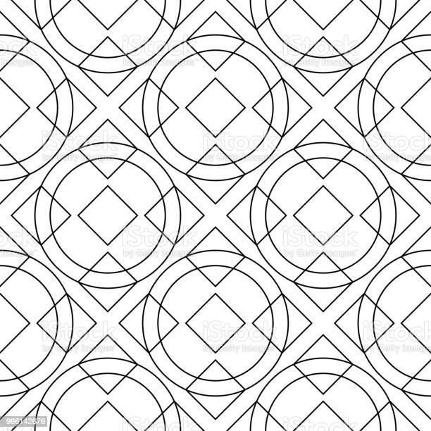 Vit Och Svart Monokrom Geometrisk Print Seamless Mönster-vektorgrafik och fler bilder på Abstrakt