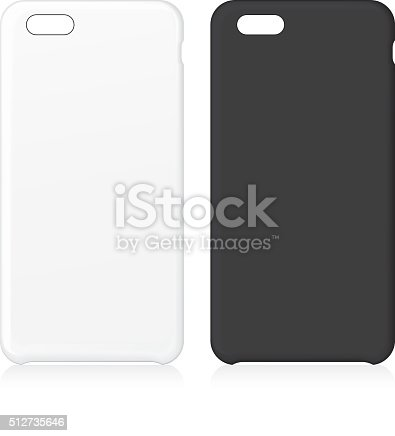 Blank phone cases. Vector Illustration.EPS10, Ai10, PDF, High-Res JPEG included.