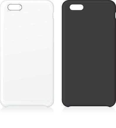 White and black phone case set.