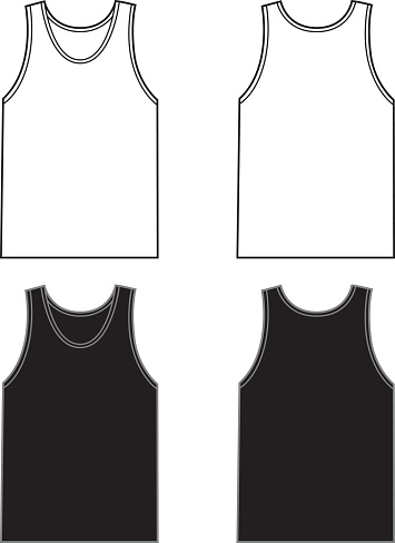 White And Black Tank Tops