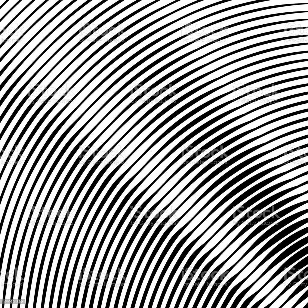 Vetores De Onda De Preto E Branco Listras Textura Padrao Para