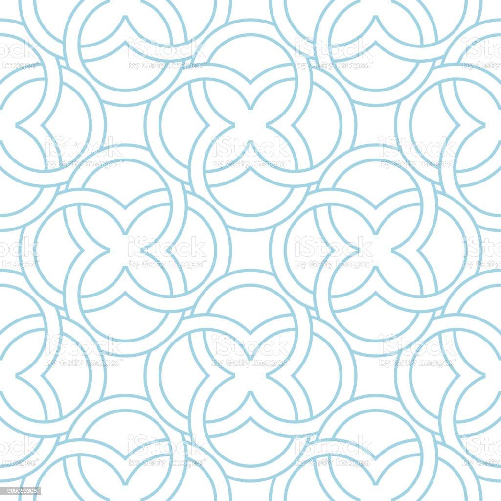White and blue geometric ornament. Seamless pattern white and blue geometric ornament seamless pattern - stockowe grafiki wektorowe i więcej obrazów abstrakcja royalty-free