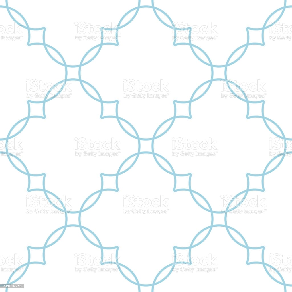 Vit och blå geometrisk ornament. Seamless mönster - Royaltyfri Abstrakt vektorgrafik