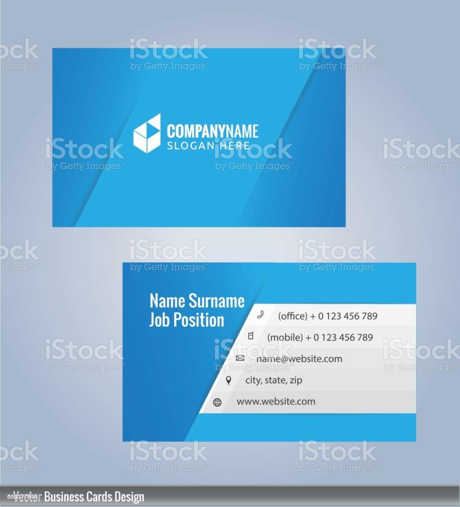 Weiß Und Blau Moderne Visitenkarte Vorlage Stock Vektor Art Und Mehr Bilder Von Abstrakt
