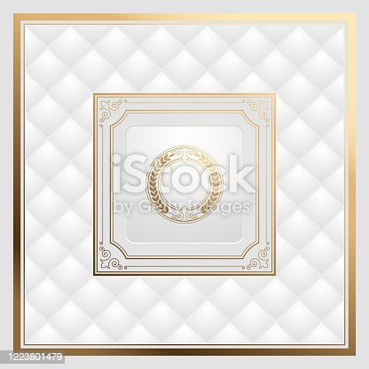 istock White and gold luxury vintage background 1223801479