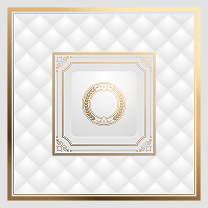 White and gold luxury vintage background