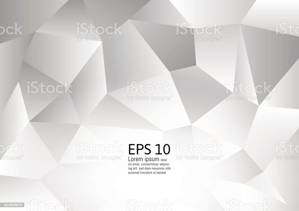 White And Gray Color Polygon Abstract Background Modern