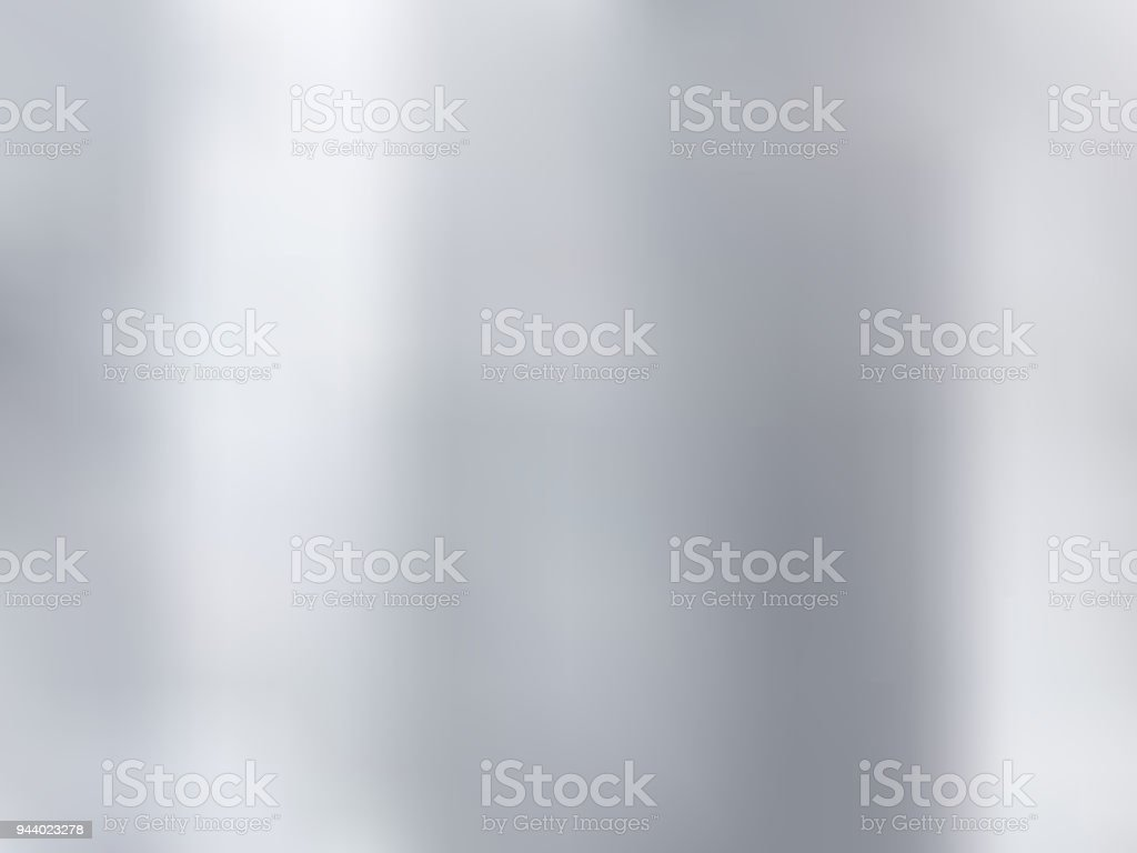 White and gray gradient blurred style background. Silver metal material texture. vector art illustration