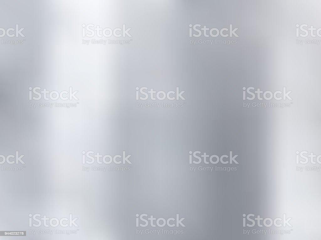 Fond blanc et gris dégradé style floue. Texture des matières métal argenté. - Illustration vectorielle