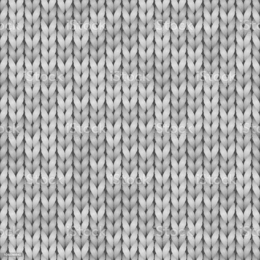 White And Gray Realistic Knit Texture Seamless Pattern ...