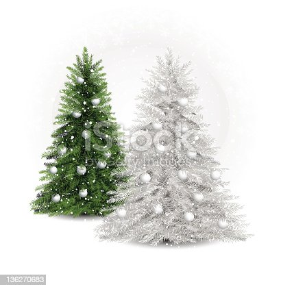 istock white and green pine trees 136270683
