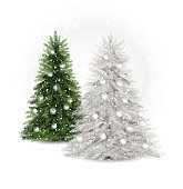 useful detailed and realistic vector Christmas trees