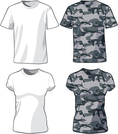 White and Military Shirts template