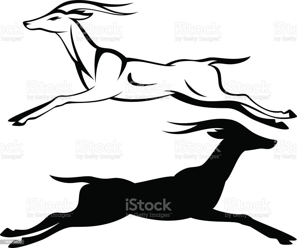 royalty free gazelle clip art vector images illustrations istock rh istockphoto com mountain gazelle clipart Giraffe Clip Art