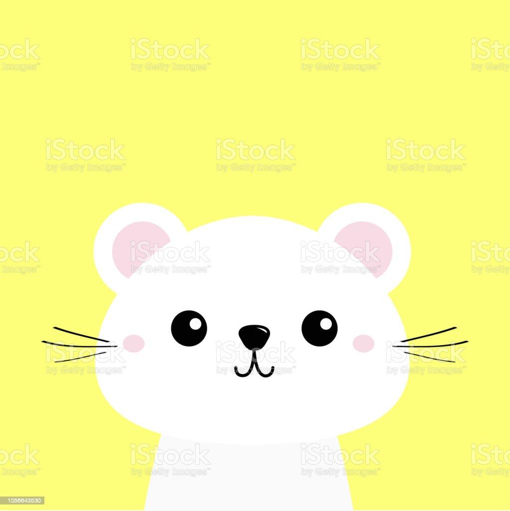 Animal Blanc Personnage De Dessin Anime Kawaii Mignon Visage De Bebe