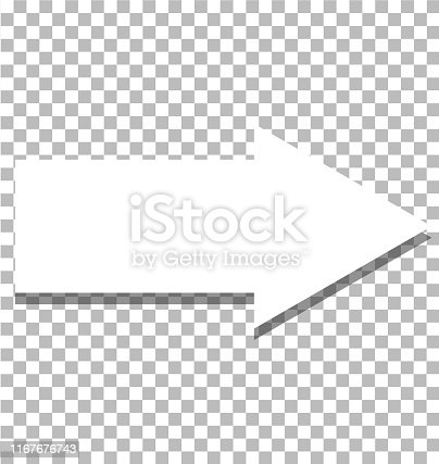 istock white arrow icon on transparent background. flat style. white arrow icon for your web site design, logo, app, UI. arrow symbol. arrow sign. 1167676743