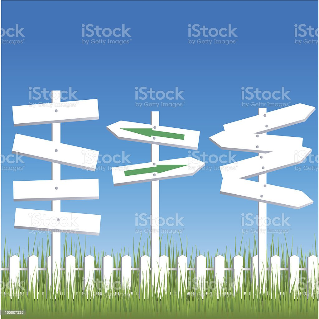 White arrow sign vector art illustration